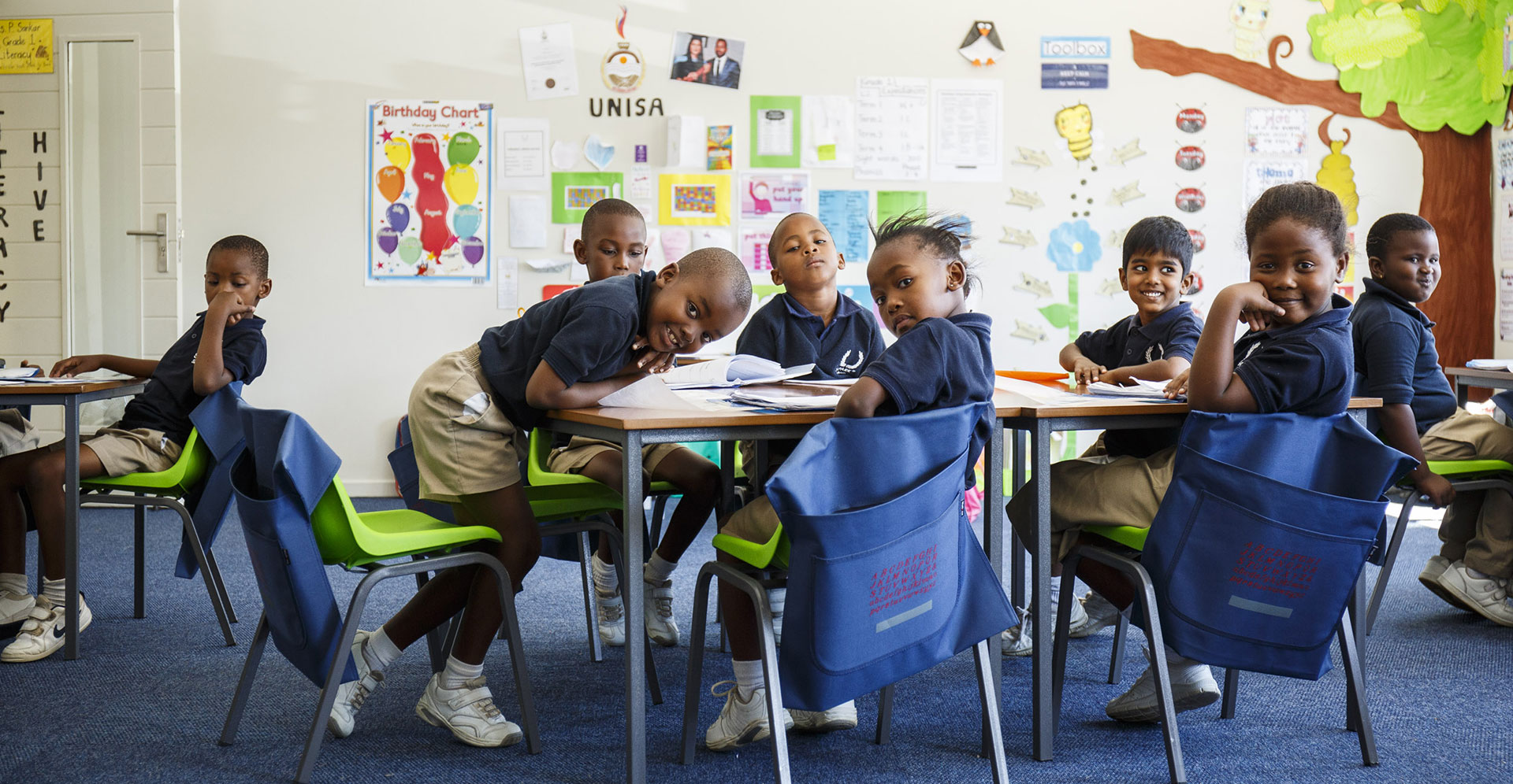 In the classroom at SPARK schools